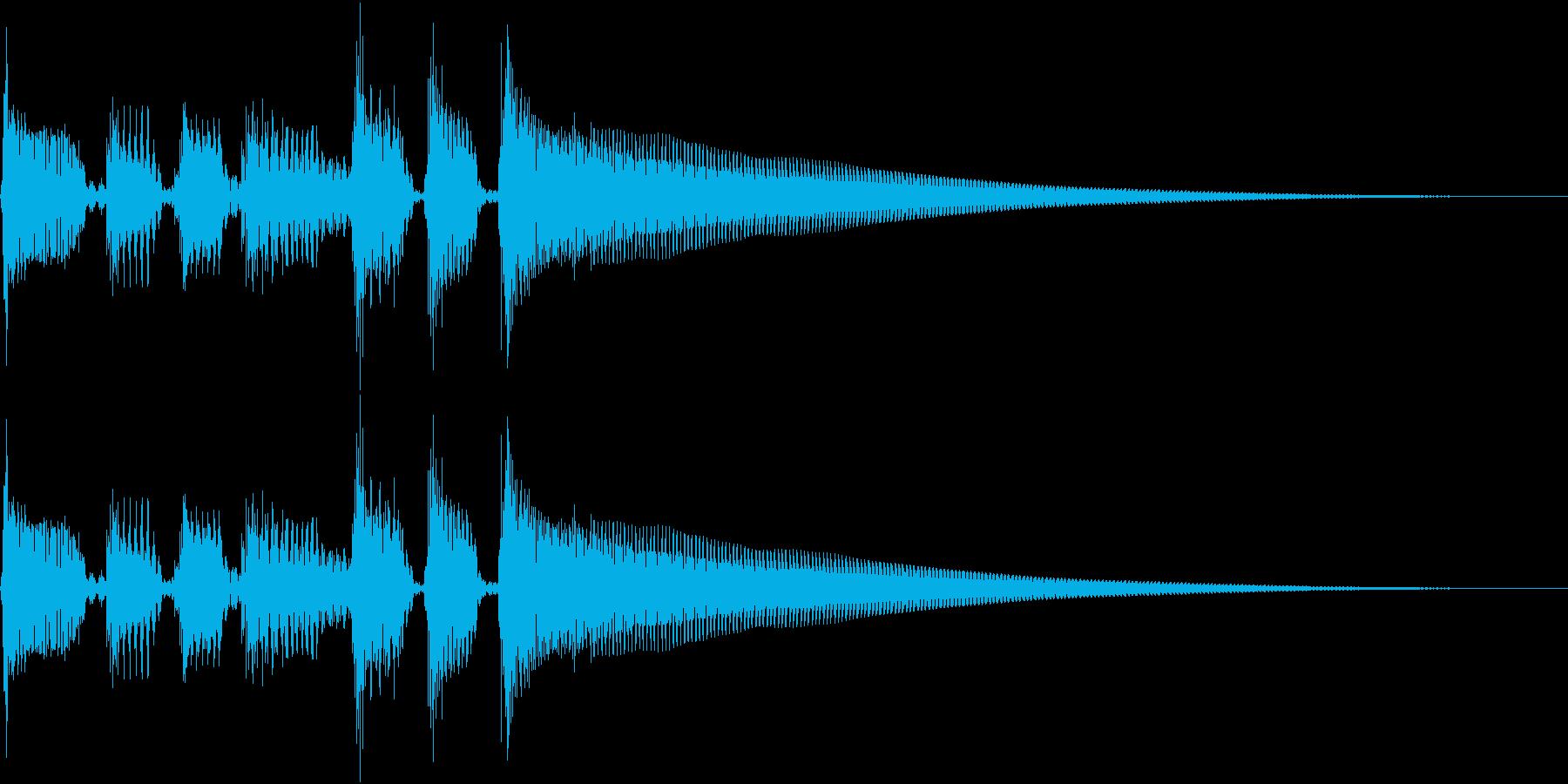 エレキギターのクリーンなサウンドの再生済みの波形