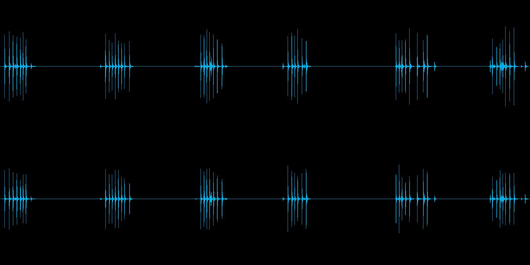 古い機械式目覚まし時計:巻き上げ、...の再生済みの波形
