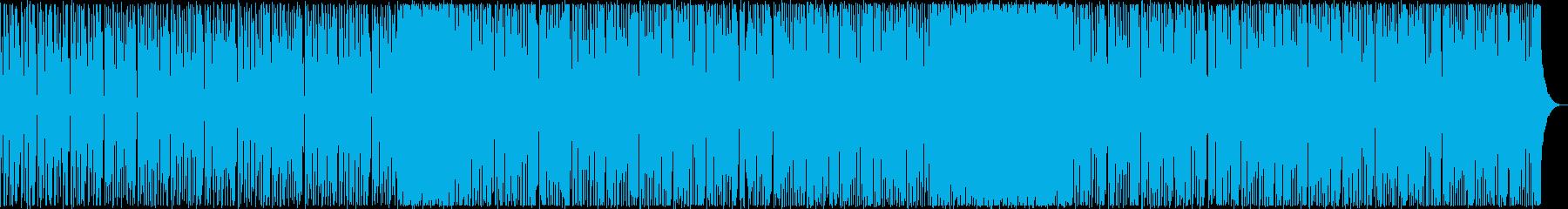 軽快でノリの良いファンク、ソウル調の楽曲の再生済みの波形
