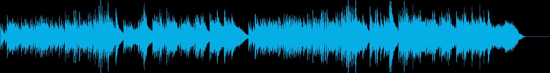 ゆったりと切ないピアノバラードの再生済みの波形