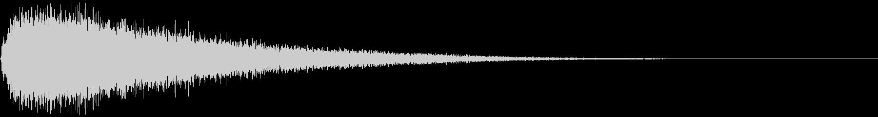 【ホラーゲーム】シンバルの音_ジャーン!の未再生の波形