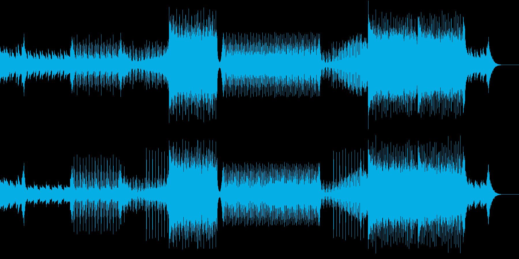 爽やかなトロピカルハウスの再生済みの波形