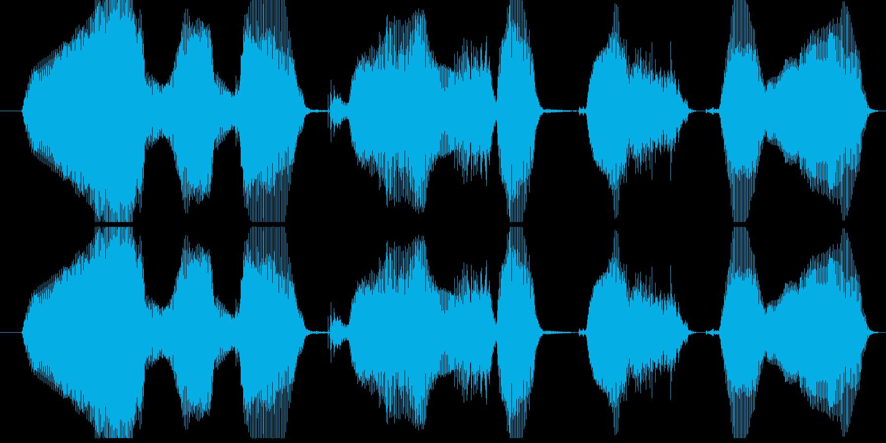 WEBで検索してねの再生済みの波形