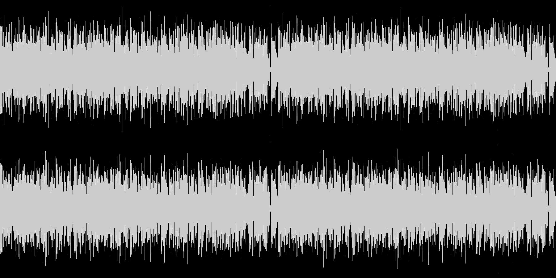 フルートが目立つゆったりボサノバBGMの未再生の波形