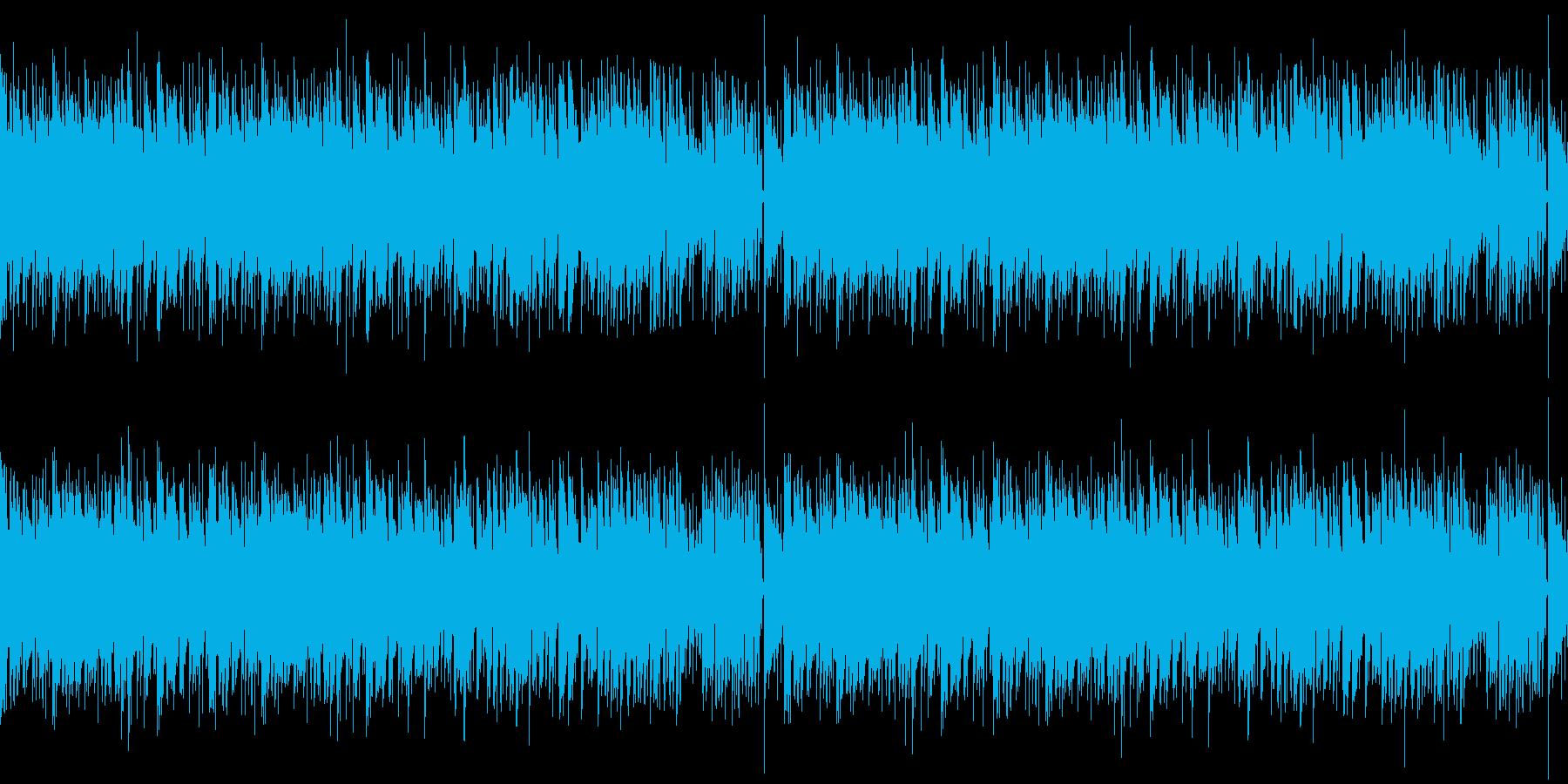 フルートが目立つゆったりボサノバBGMの再生済みの波形