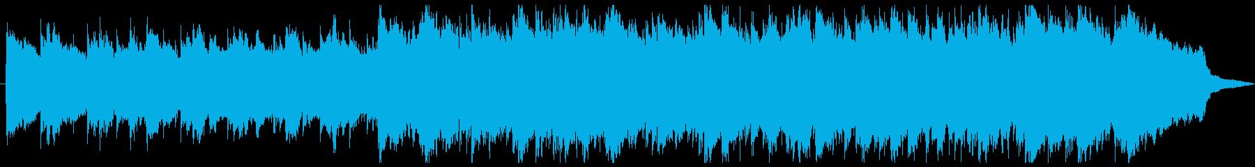 尺八の和風な曲の再生済みの波形