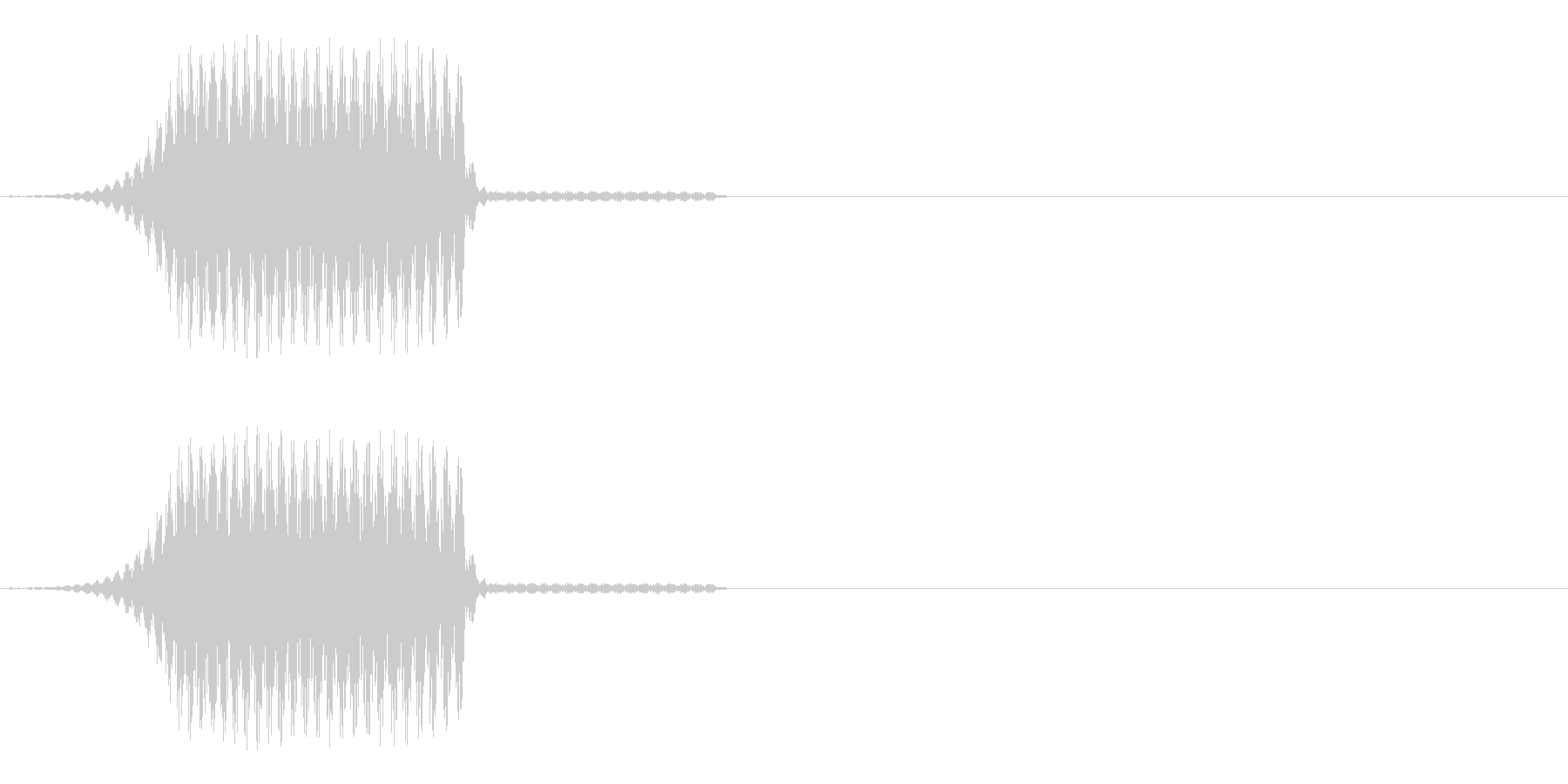 テロップなどが表示されるイメージの未再生の波形