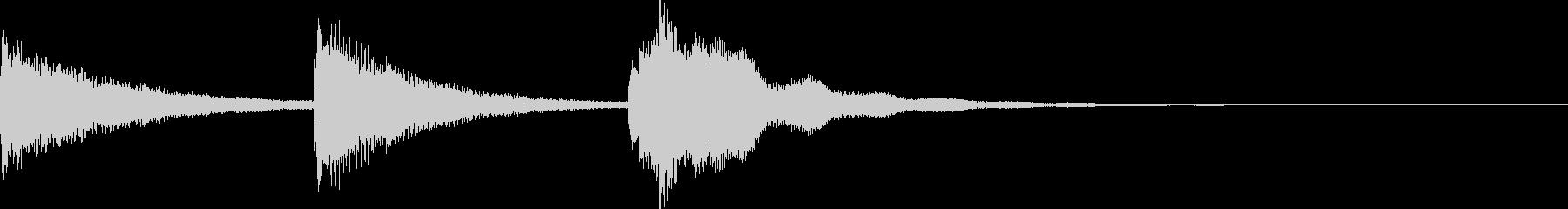 明るい ピアノ 場面転換の音の未再生の波形