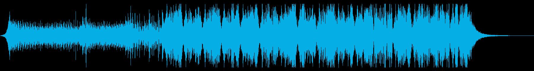 アグレッシブなダブステップの再生済みの波形