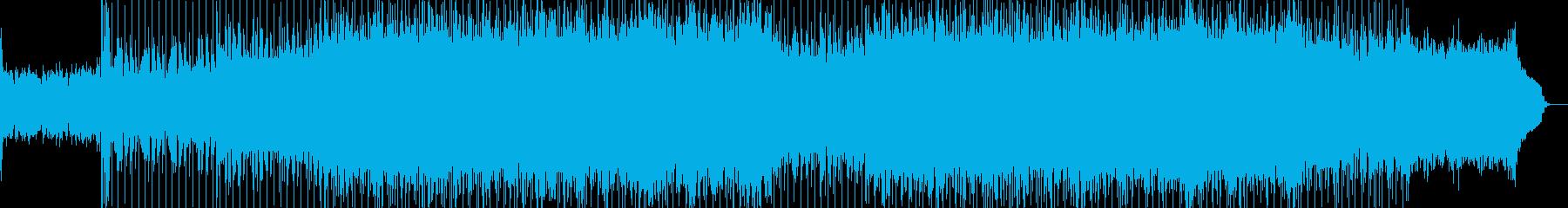 軽快なビートとエレキギターによるBGMの再生済みの波形