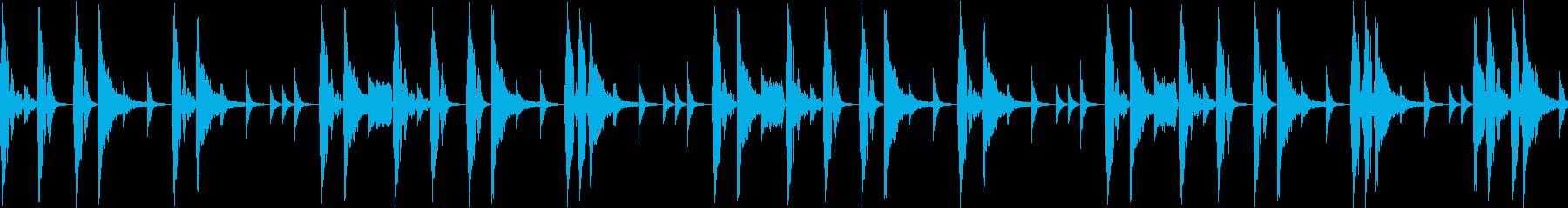 ノリの良いブレークビーツ_005の再生済みの波形