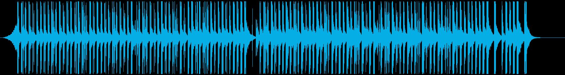 ドラムと手拍子ジングル明るい疾走感(中) の再生済みの波形