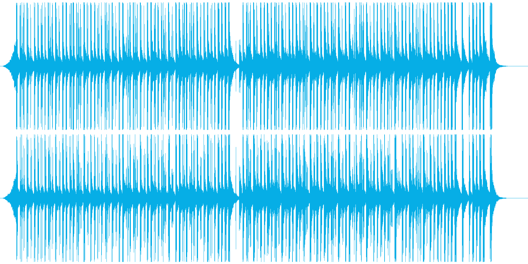 ドラムと手拍子ジングル明るい疾走感(中)の再生済みの波形