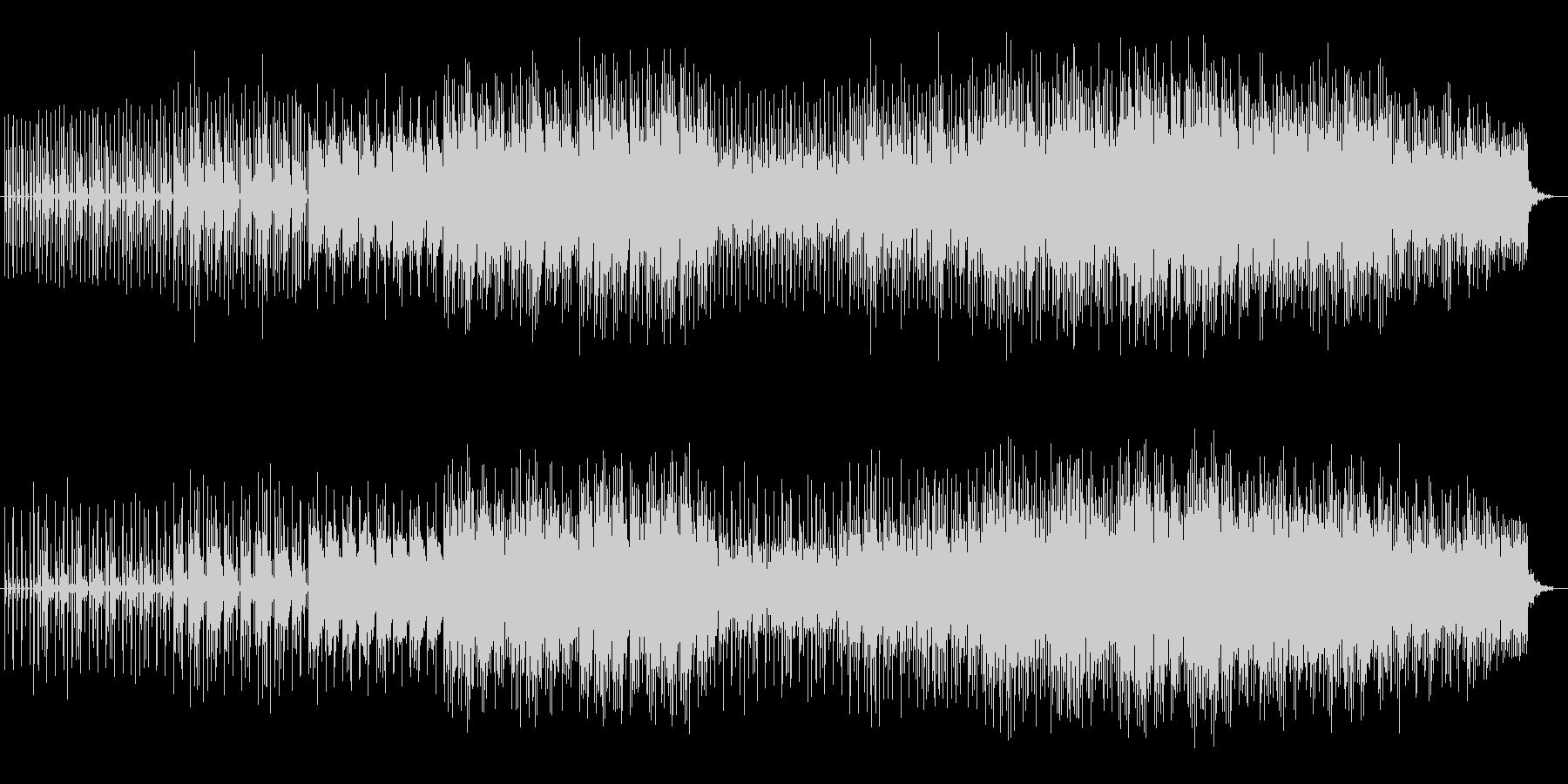 ユニークで可愛らしいミュージックの未再生の波形