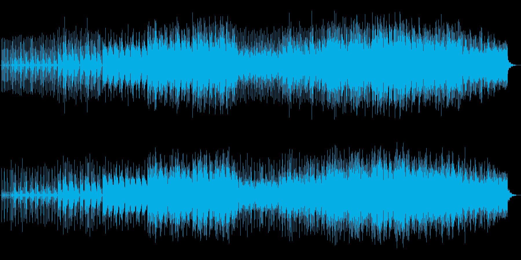 ユニークで可愛らしいミュージックの再生済みの波形
