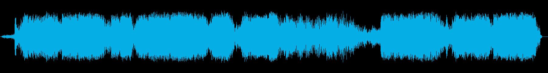 重い干渉を伴うトランシーバーまたは...の再生済みの波形