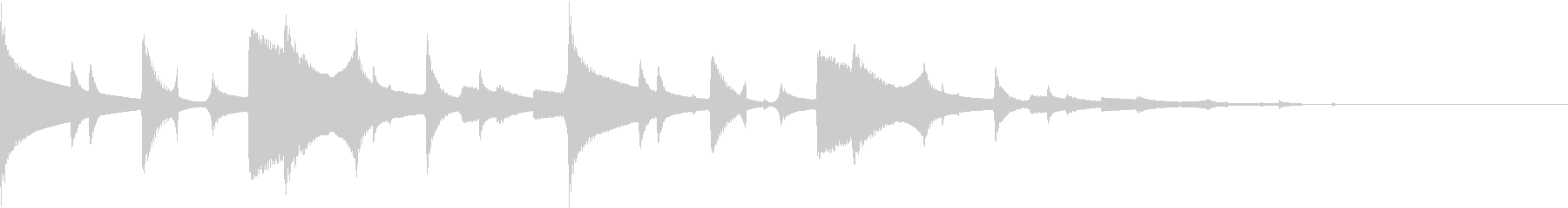 時報風 合図 ポーン 低めの未再生の波形