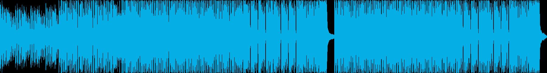 近未来を予感させるEDM系楽曲の再生済みの波形