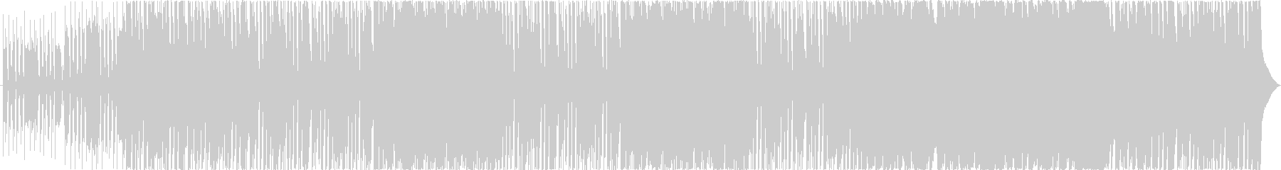 スピード感のあるミクスチャー系ロックの未再生の波形