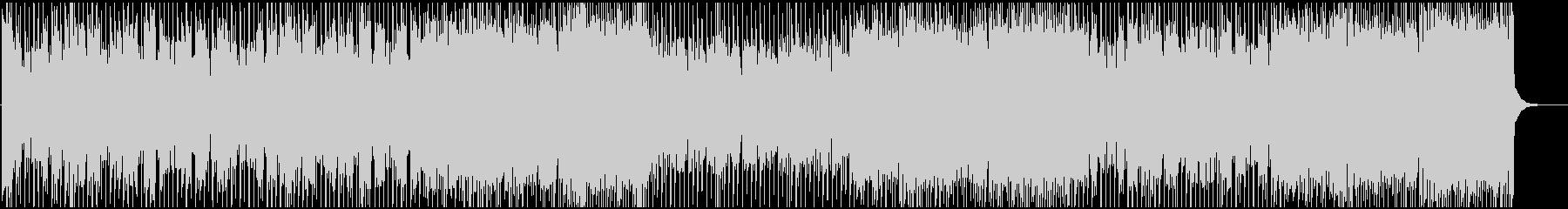 明るいくエネルギッシュなBGMの未再生の波形