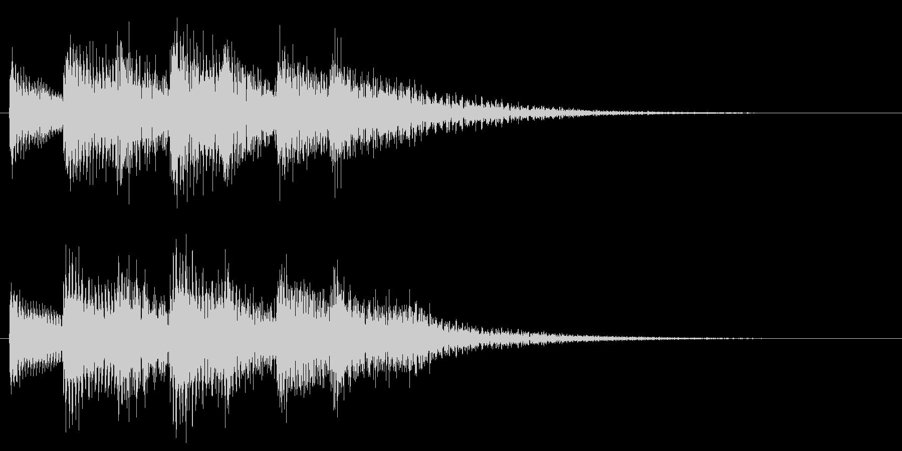 和風効果音 琴 クール アクセント B2の未再生の波形