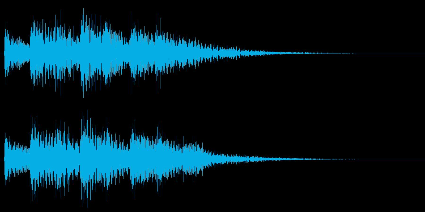 和風効果音 琴 クール アクセント B2の再生済みの波形