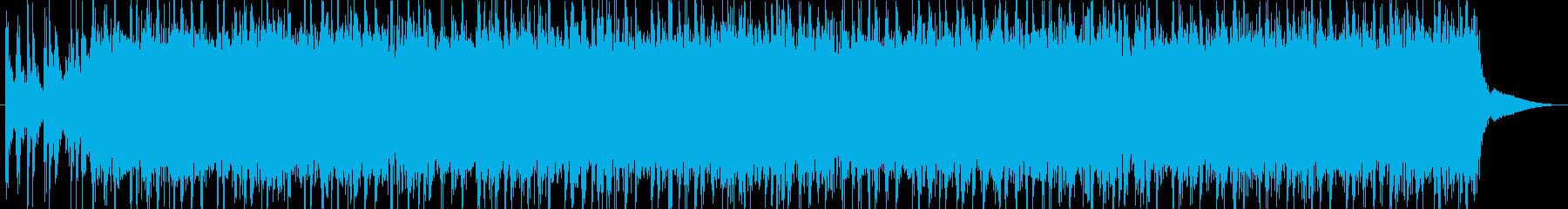 トーク用BGM(明るいノリのロック)の再生済みの波形