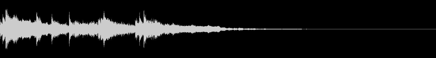 怪しいシンプルなハロウィンのジングルの未再生の波形