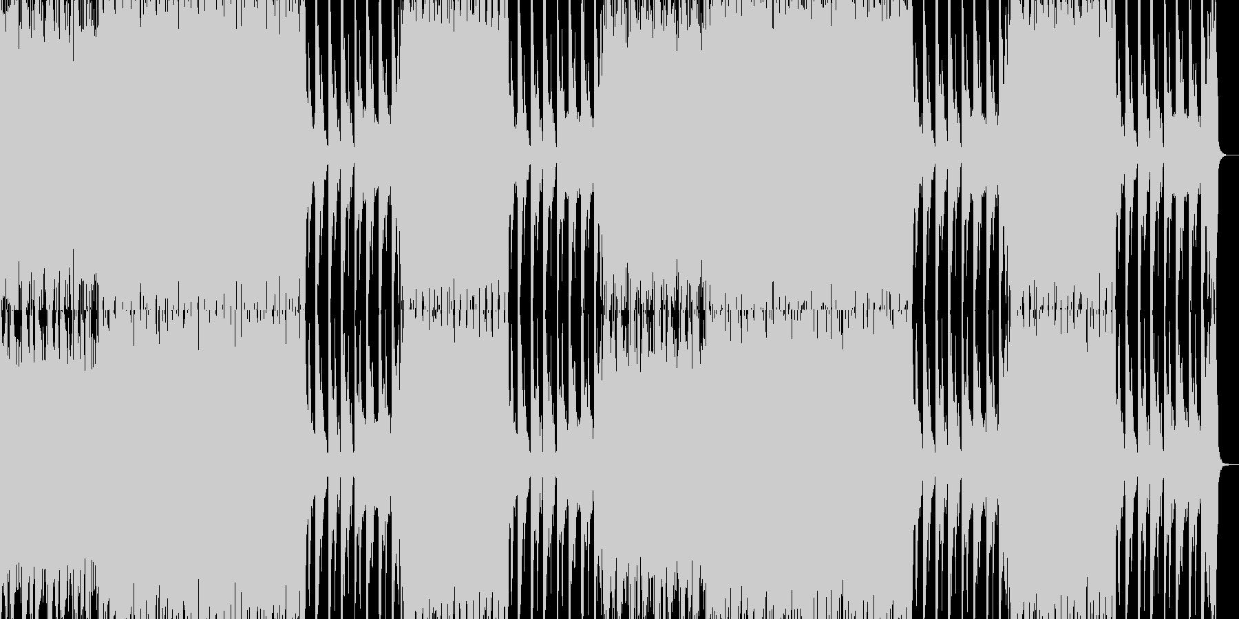 緊迫感のあるへヴィな戦闘曲の未再生の波形