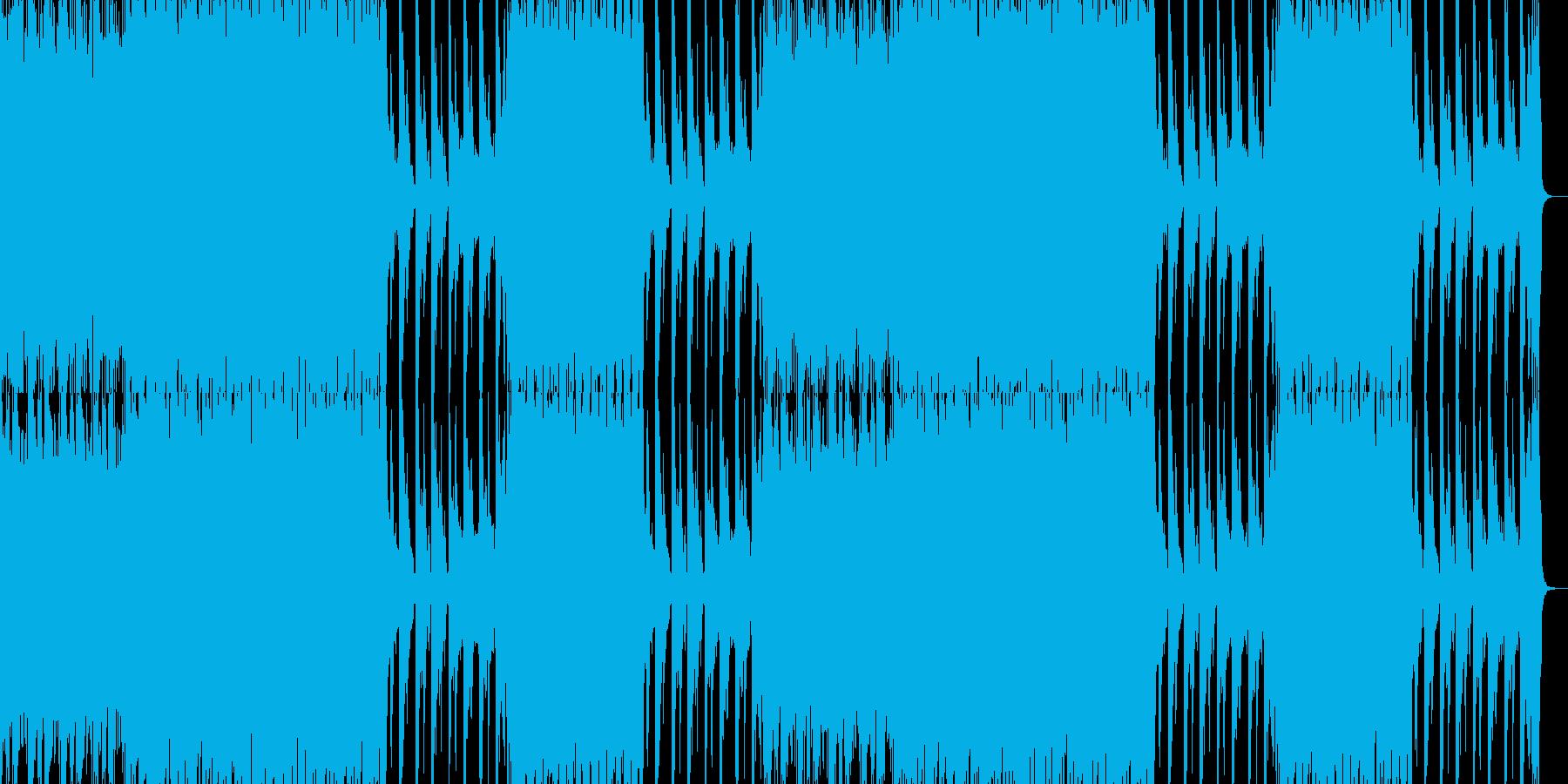 緊迫感のあるへヴィな戦闘曲の再生済みの波形