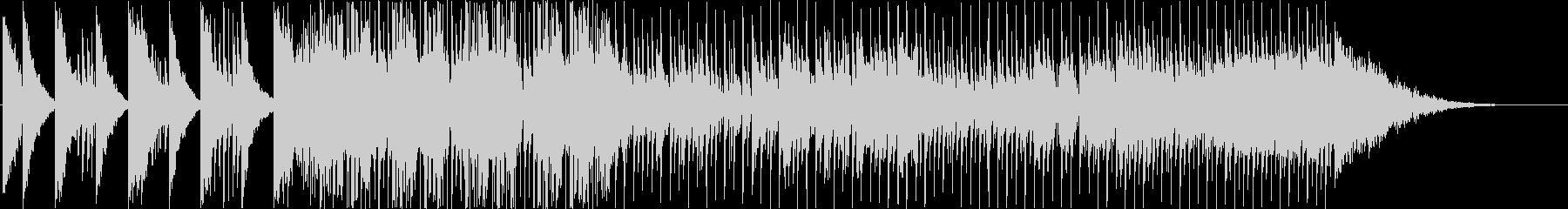 ブラスと和楽器の和風ファンクロックの未再生の波形