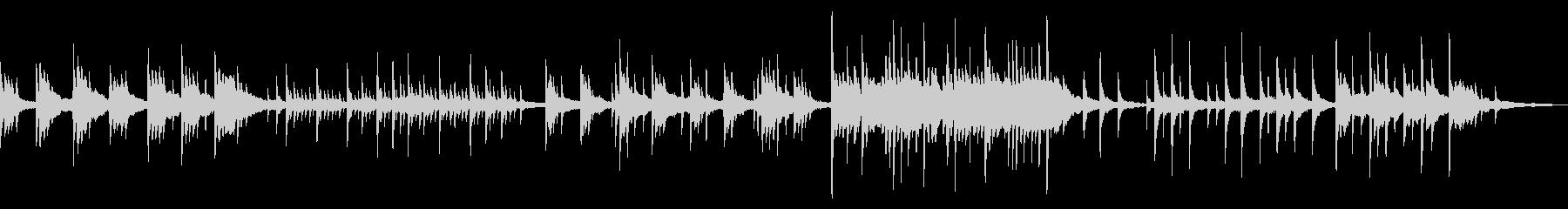 温かく包まれ癒されるフェルトピアノBGMの未再生の波形