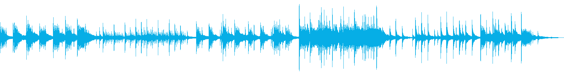温かく包まれ癒されるフェルトピアノBGMの再生済みの波形
