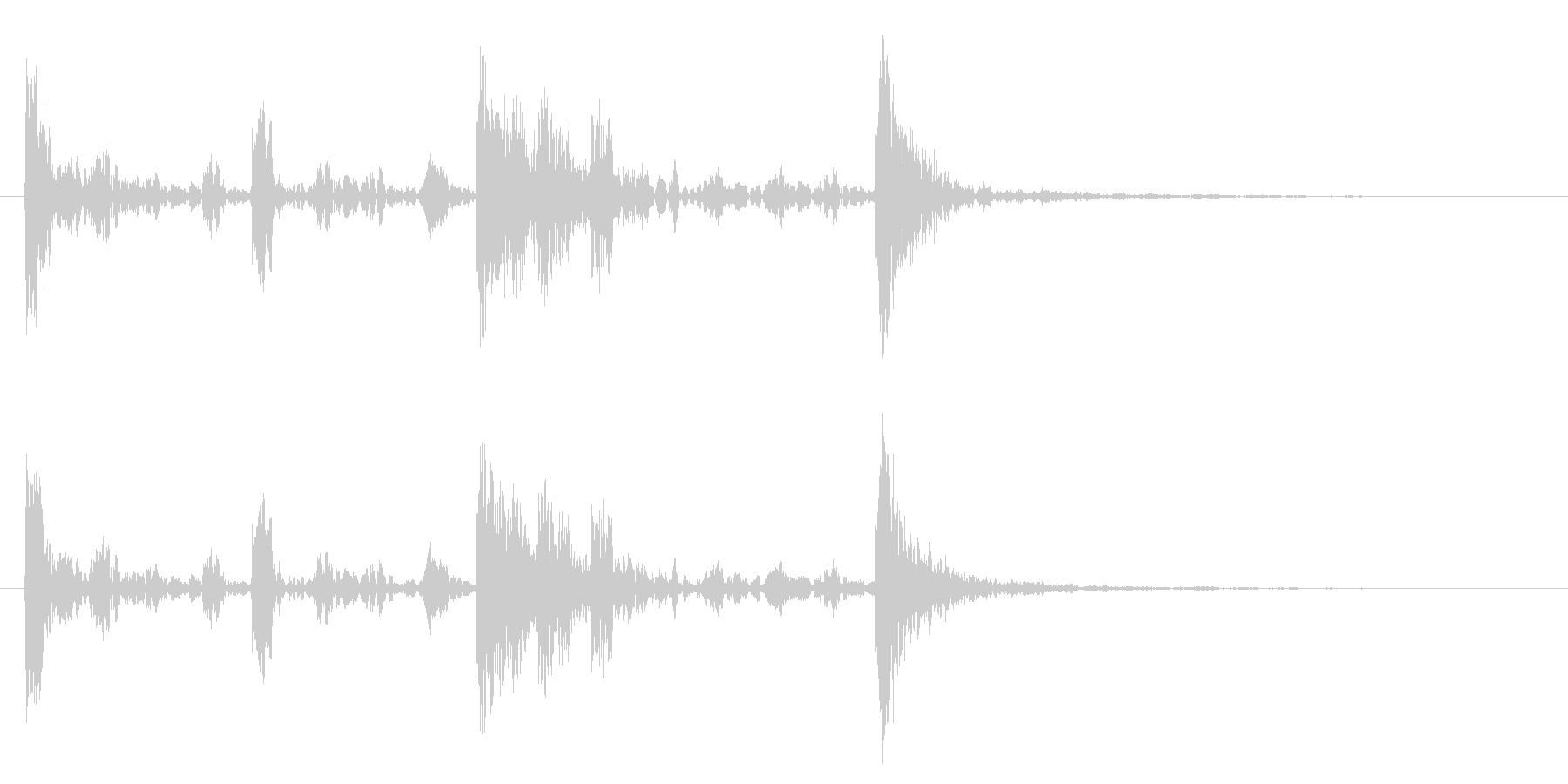ドラム太鼓系ワンフレーズ ドコドンドンの未再生の波形