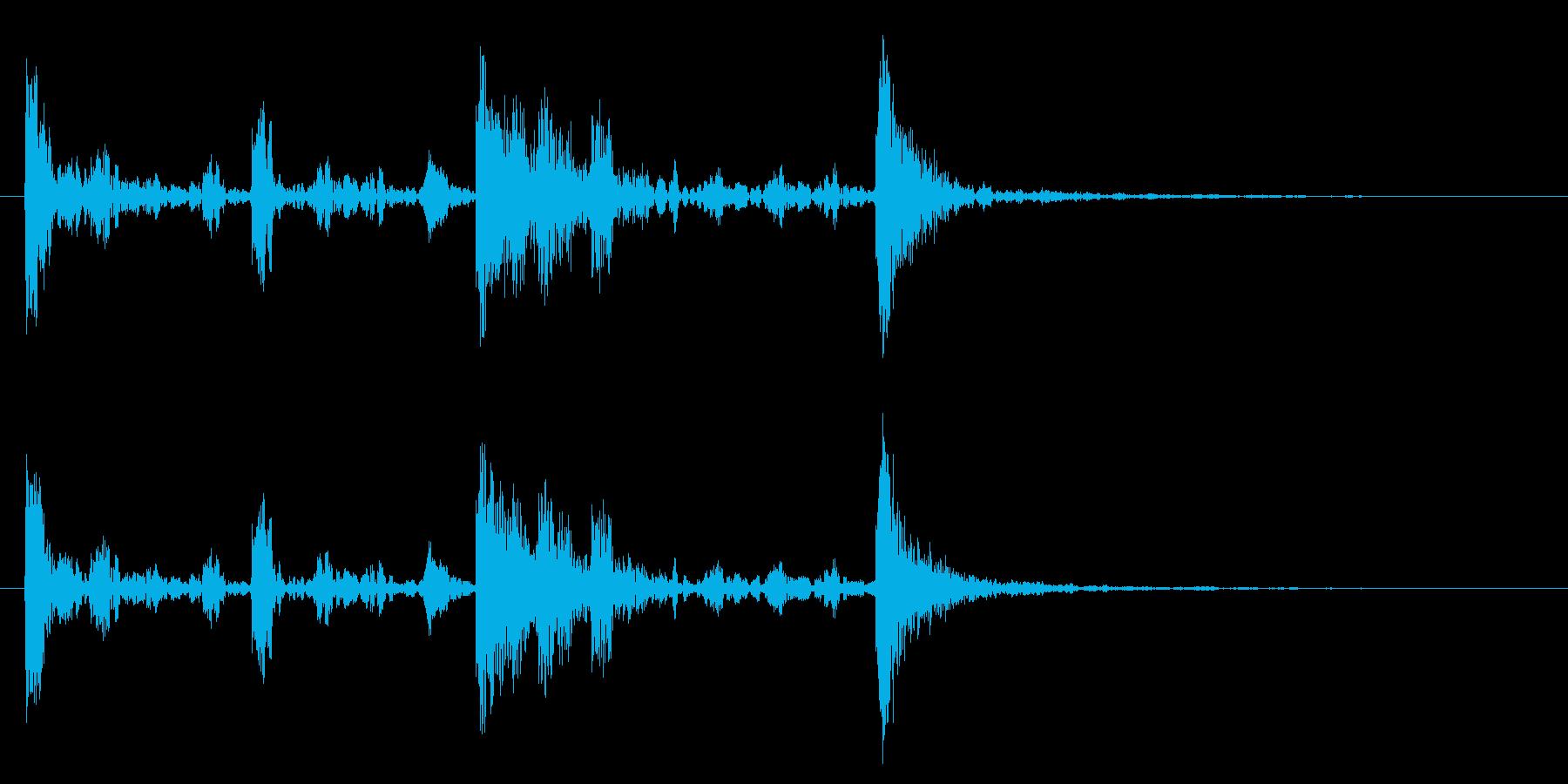 ドラム太鼓系ワンフレーズ ドコドンドンの再生済みの波形