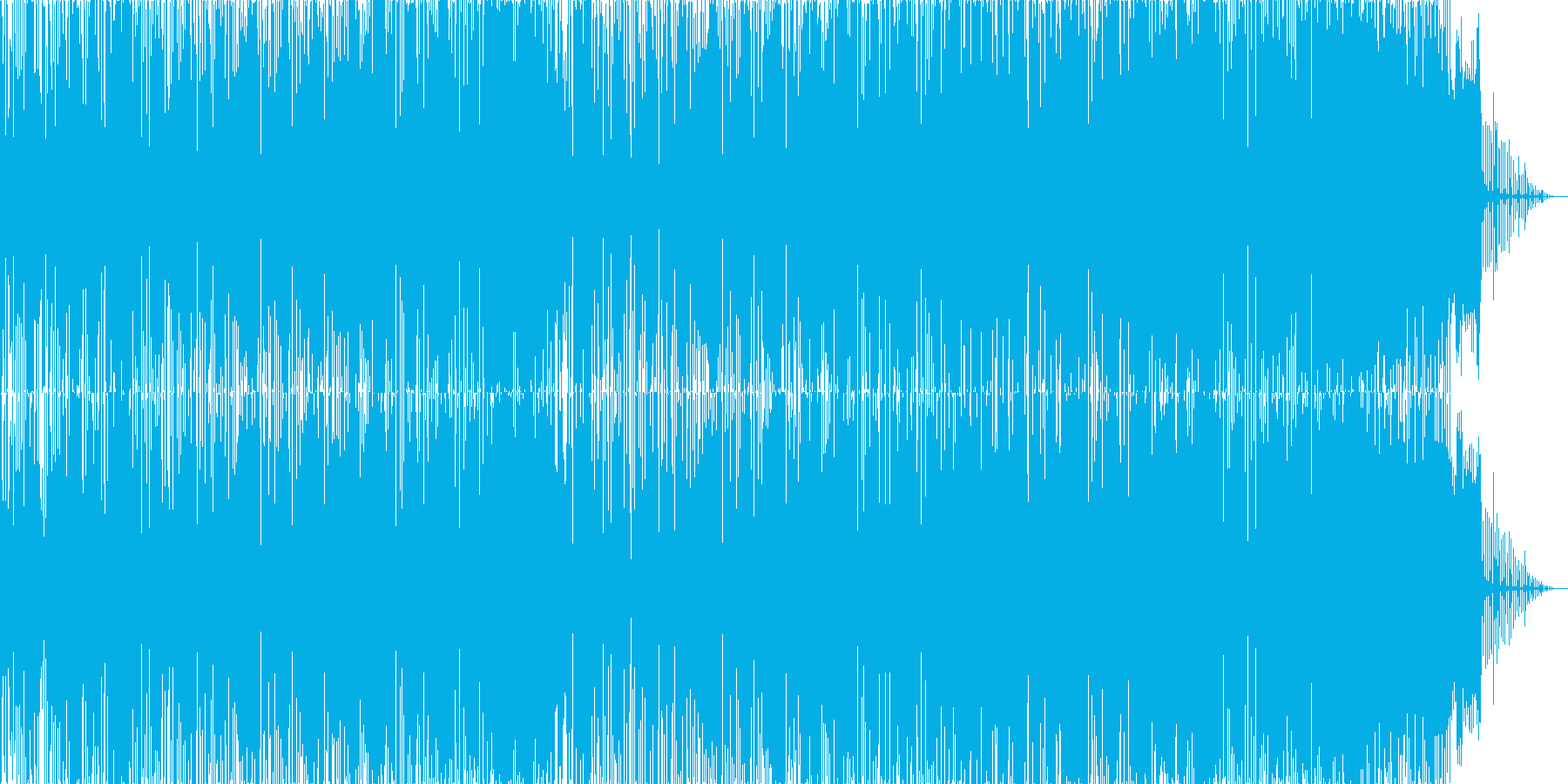 ヒップホップ風のダンスミュージック2の再生済みの波形