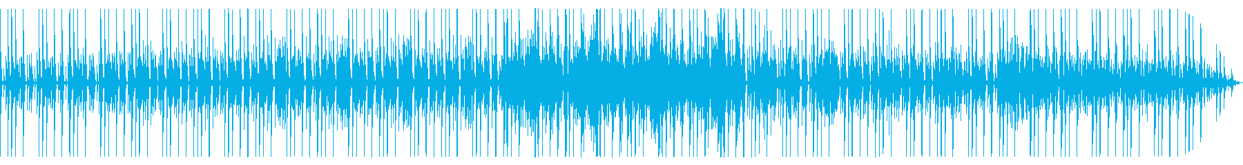 トーク動画などのBGM用テクノの再生済みの波形