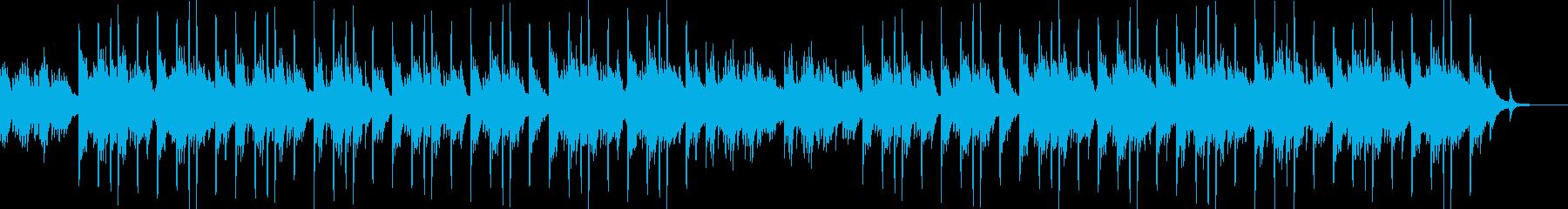 ピアノと琴のメロディが印象的な和風曲の再生済みの波形