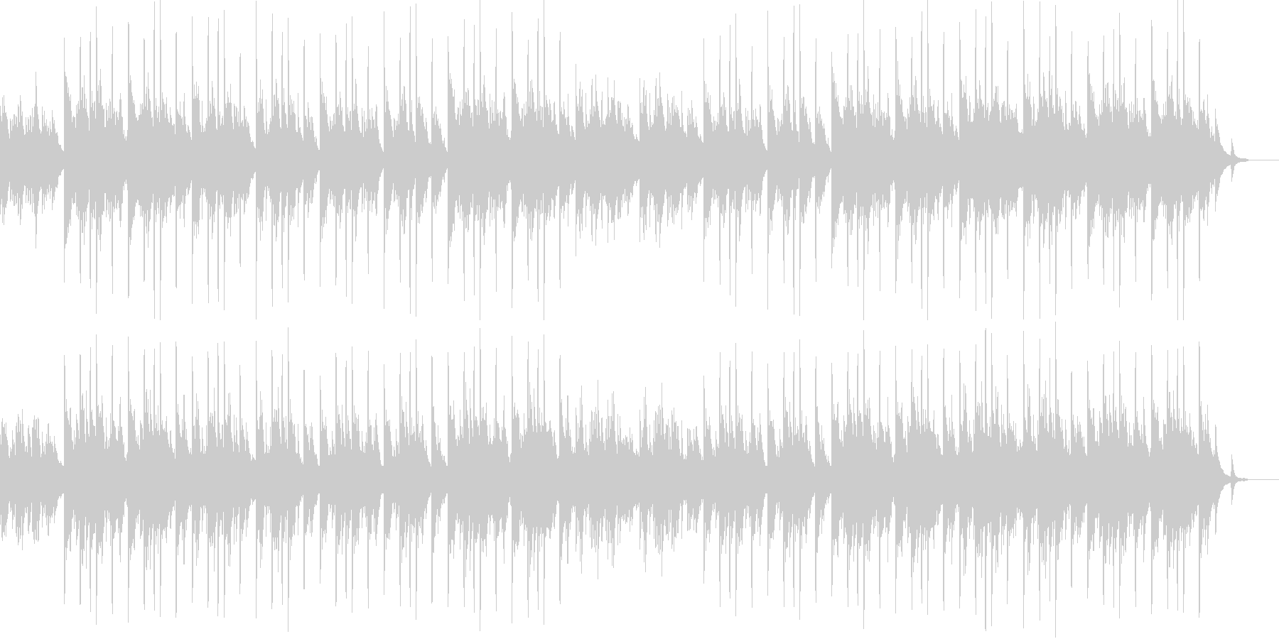 ピアノと琴のメロディが印象的な和風曲の未再生の波形