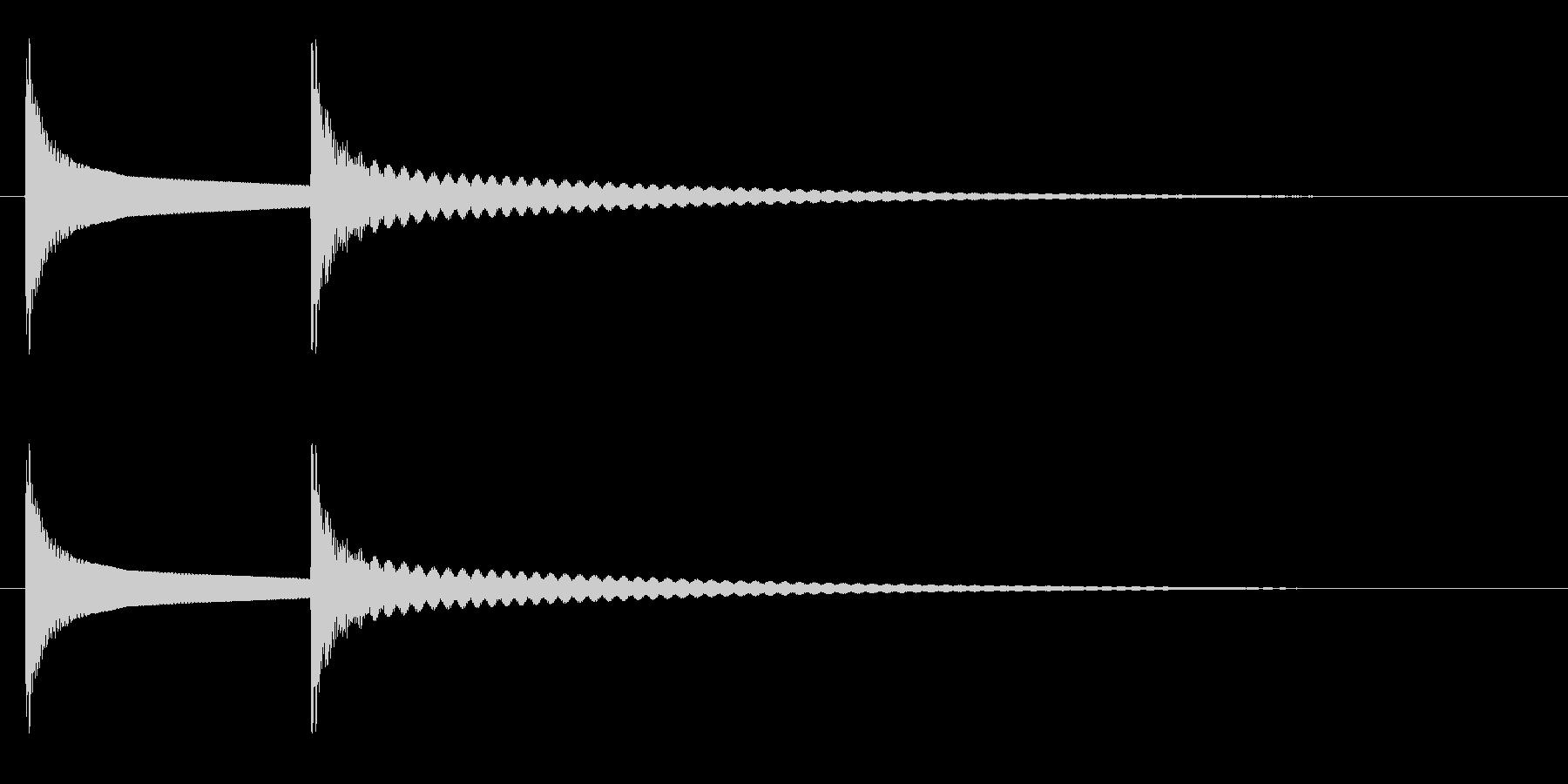 ピコーン(優しく可愛らしい)の未再生の波形
