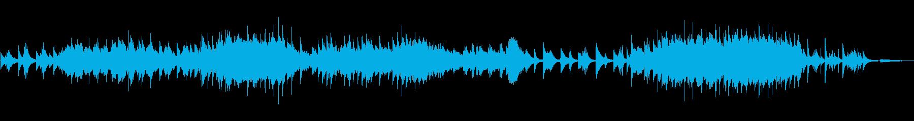 ピアノの感極まる雰囲気のバラードですの再生済みの波形