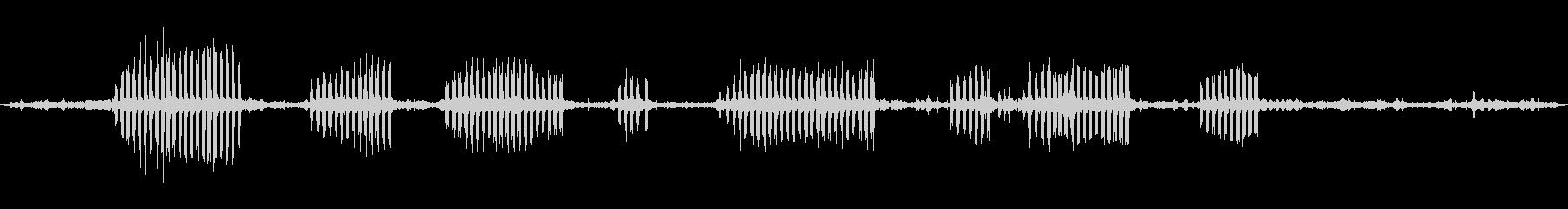 環境音 リバードーンバードクローズ01の未再生の波形