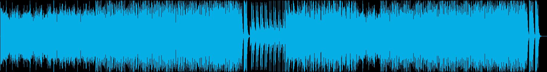 ホラー映画風BGMの再生済みの波形