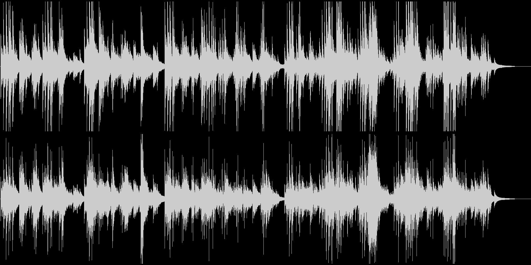 ゆるやかで感動的なピアノバラードの未再生の波形