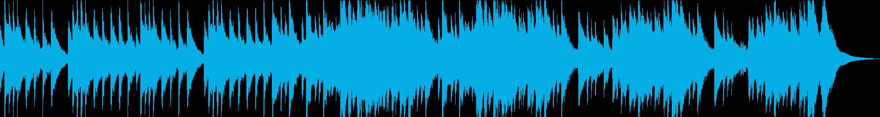 しっとりとした琴と尺八の再生済みの波形