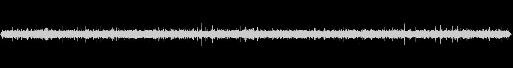 小さな湧水の環境音の未再生の波形
