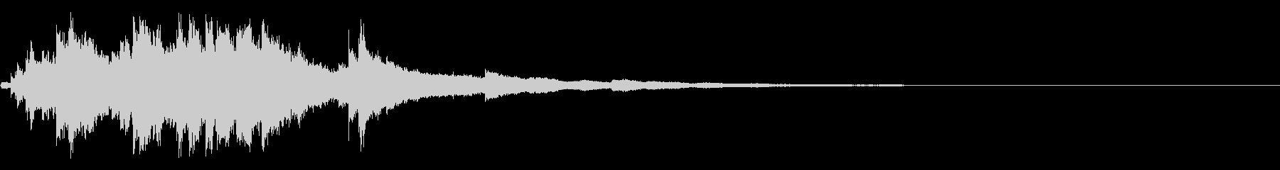 シャララン 下降 短い ウインドチャイムの未再生の波形