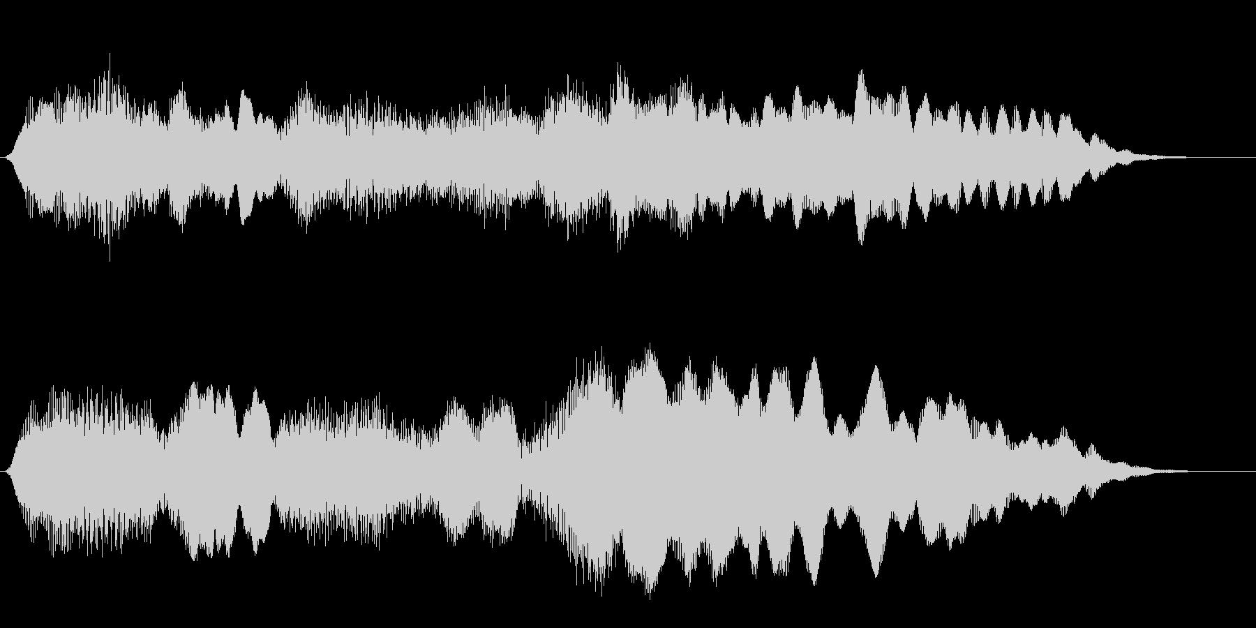 フルートの明るいジングル・場面転換5の未再生の波形