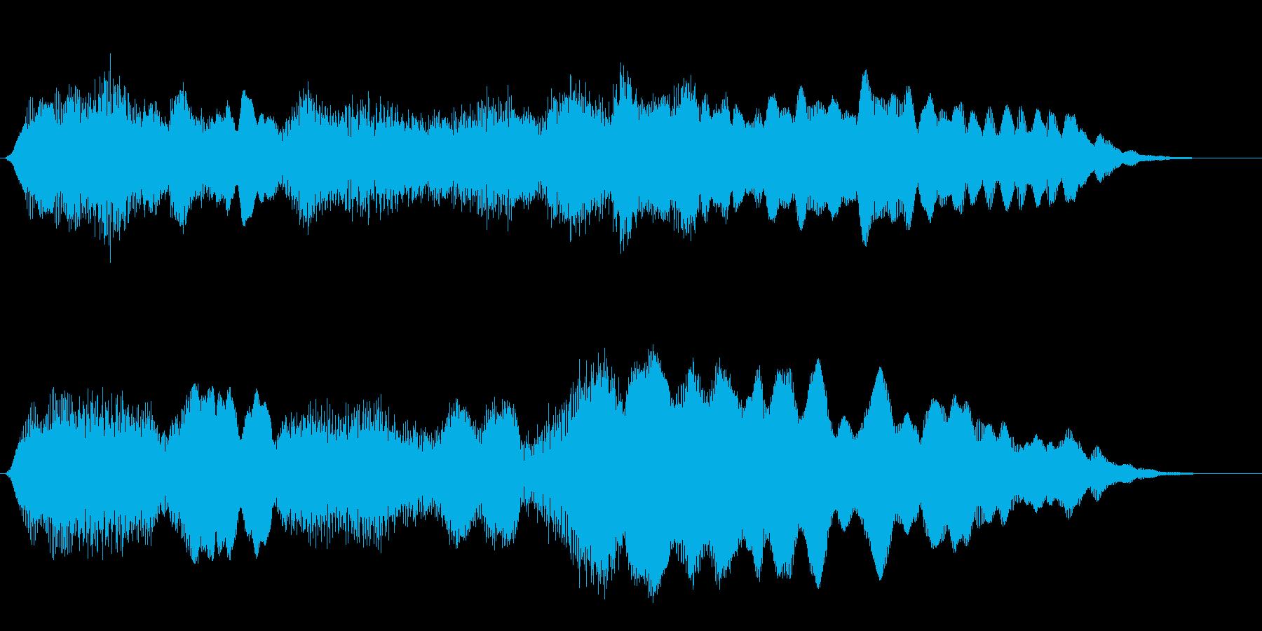 フルートの明るいジングル・場面転換5の再生済みの波形