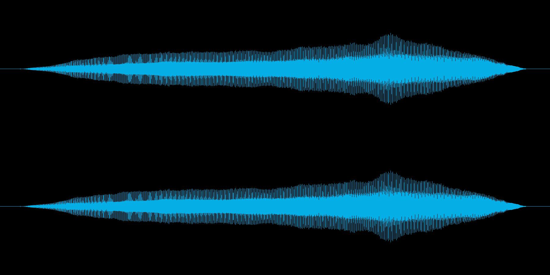 プゥ〜(オナラ)の再生済みの波形